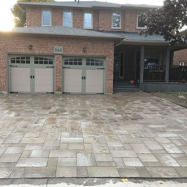 7 Interlocking driveway on double garage