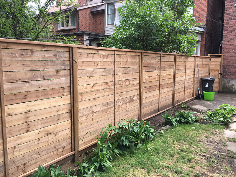 New wooden fences