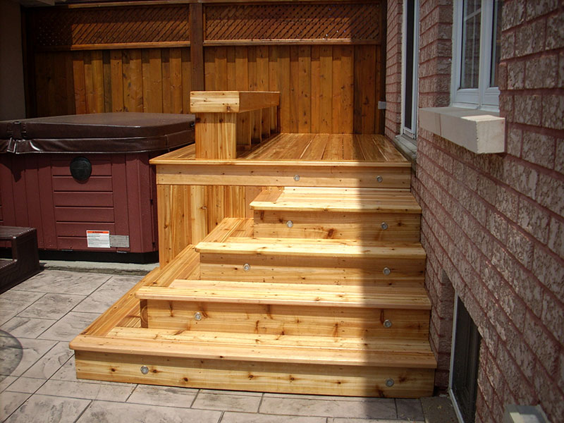 New wooden steps