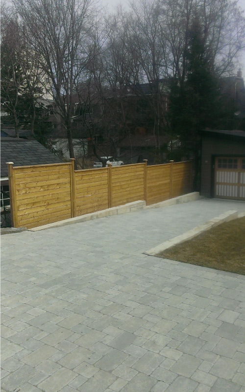 Fences on driveway
