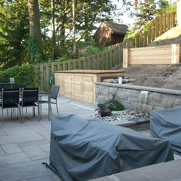 New retaining walls